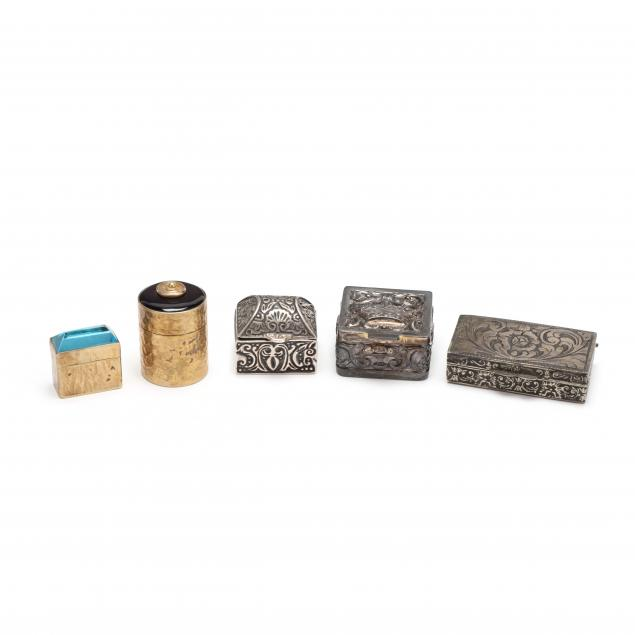 five-sterling-silver-silver-gilt-pill-boxes