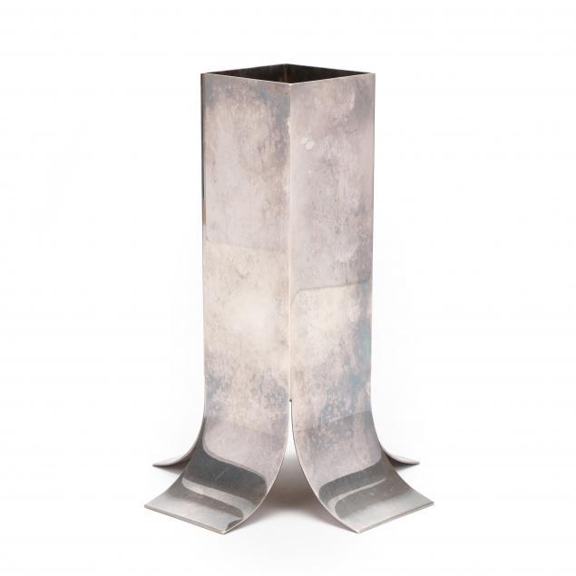 italian-silverplate-modernist-vase-lino-sabbatini