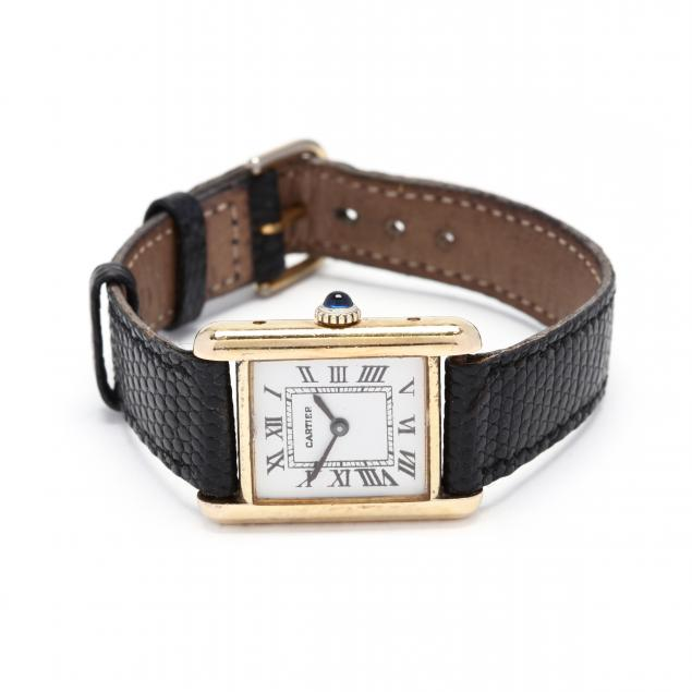 lady-s-vintage-gold-plated-tank-watch-cartier
