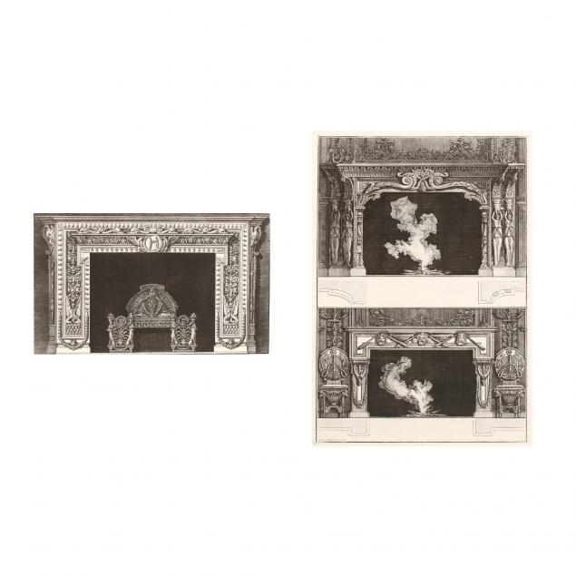 giovanni-battista-piranesi-italian-1720-1778-two-chimneypiece-etchings