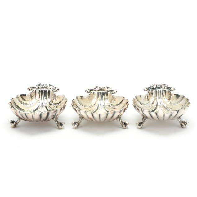 three-victorian-silverplate-shell-dishes