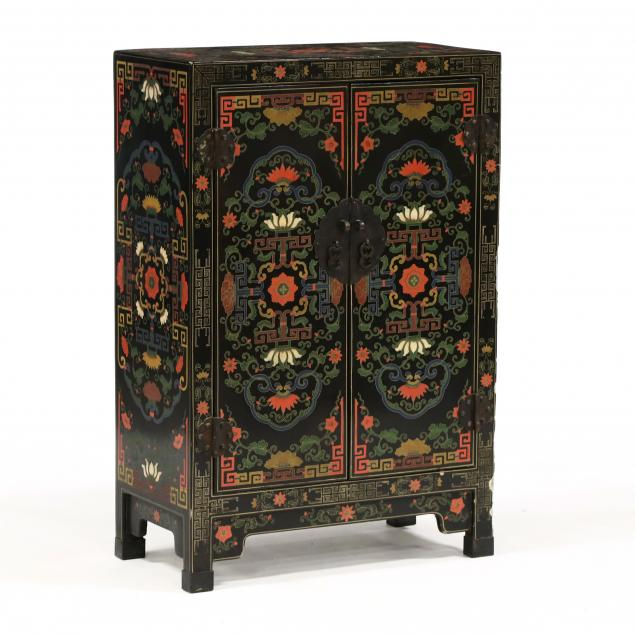vintage-chinese-lacquered-two-door-cabinet
