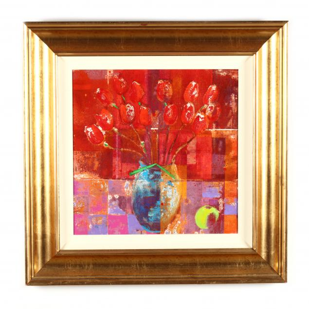 david-gordon-hughes-irish-born-1957-i-red-tulip-theme-i