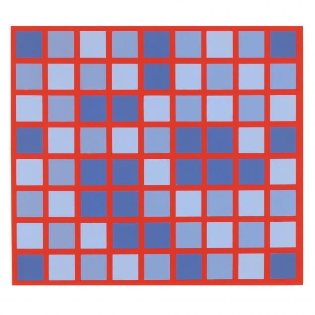 roger-francois-thepot-french-1925-i-echec-au-carre-blue-red-i