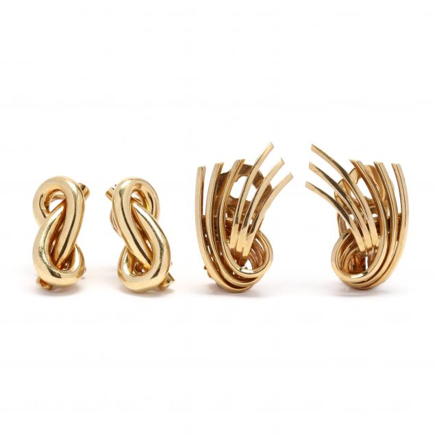 two-pairs-of-gold-ear-clips