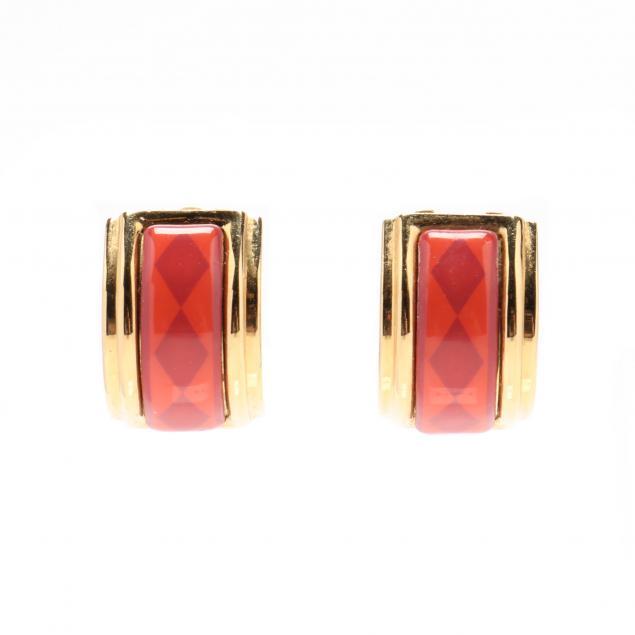hermes-enamel-earrings