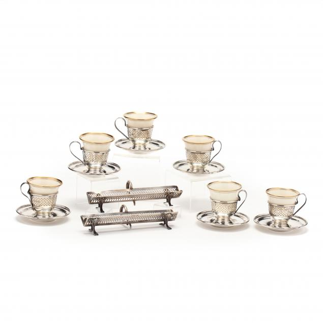 a-sterling-silver-demitasse-set-and-pair-of-cracker-stands