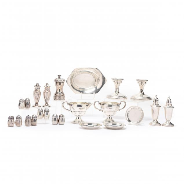 a-collection-of-vintage-sterling-silver-dining-accessories