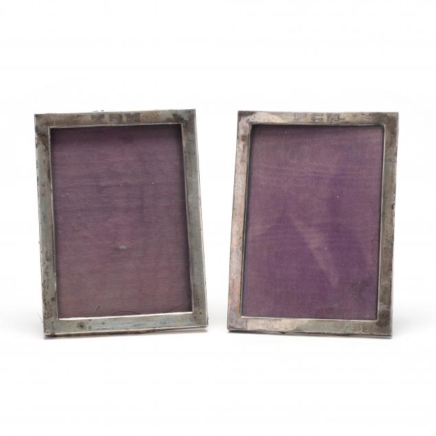 two-sterling-silver-picture-frames