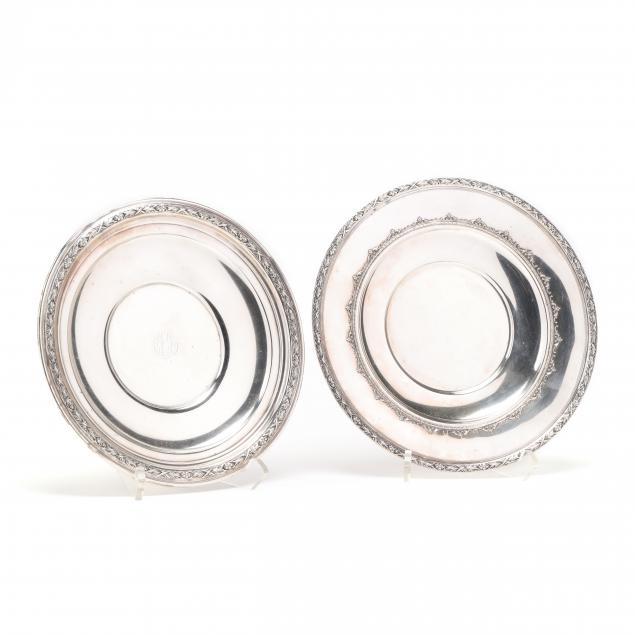 two-sterling-silver-cake-plates
