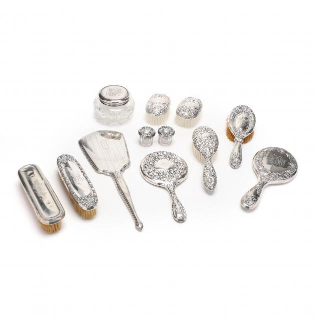 a-group-of-sterling-silver-vanity-items