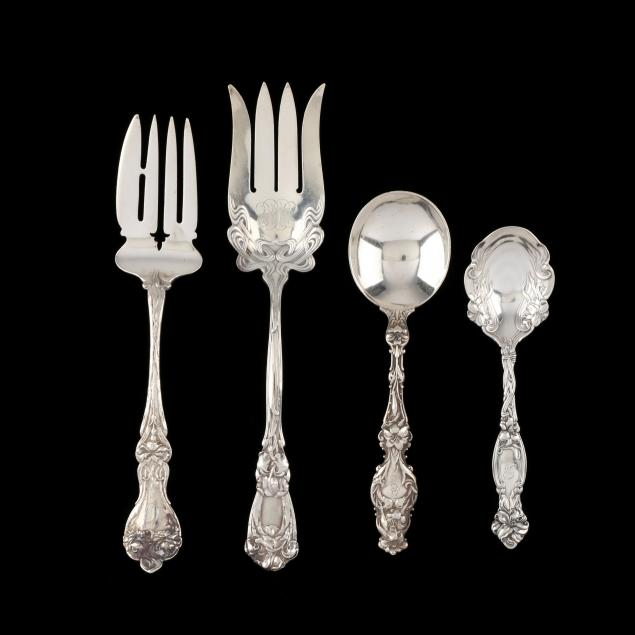 a-group-of-art-nouveau-sterling-silver-flatware