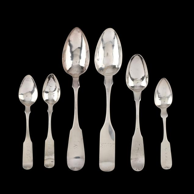six-american-coin-silver-spoons