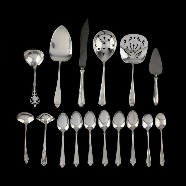 a-group-of-vintage-sterling-silver-flatware