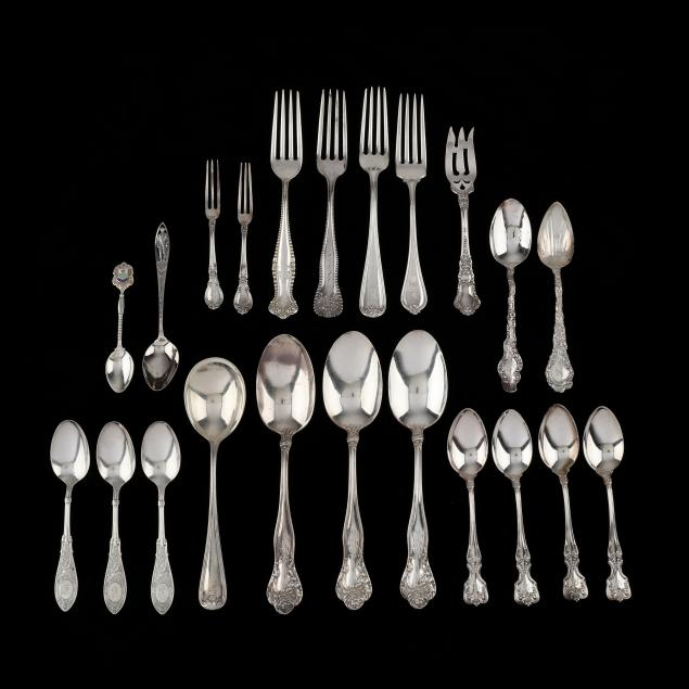 collection-of-sterling-silver-flatware
