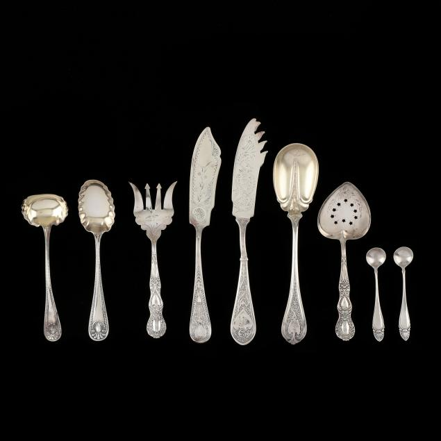 a-group-of-antique-american-sterling-silver-servers