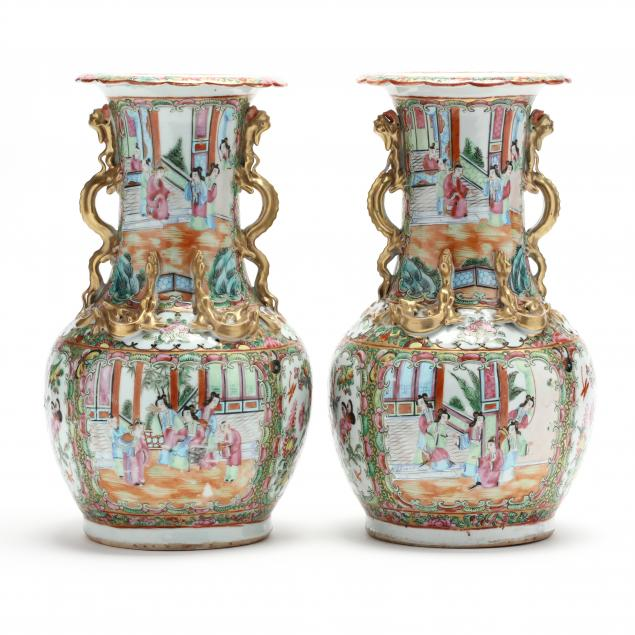 a-pair-of-chinese-porcelain-rose-medallion-vases
