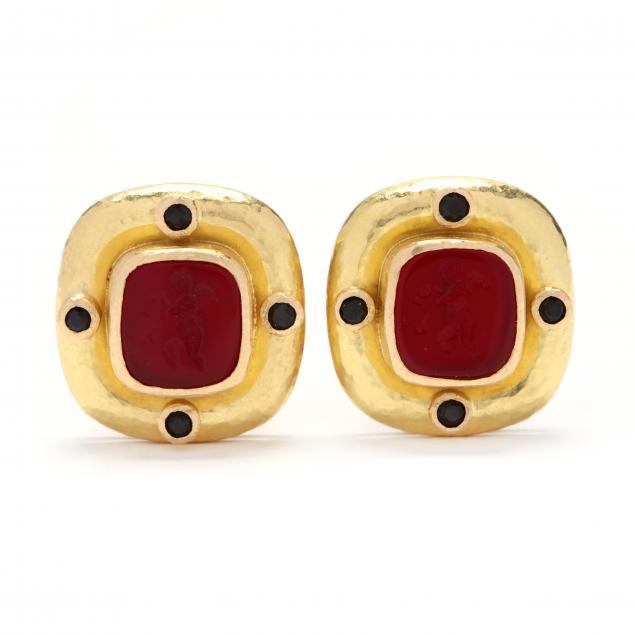 19kt-gold-and-venetian-glass-earrings-elizabeth-locke