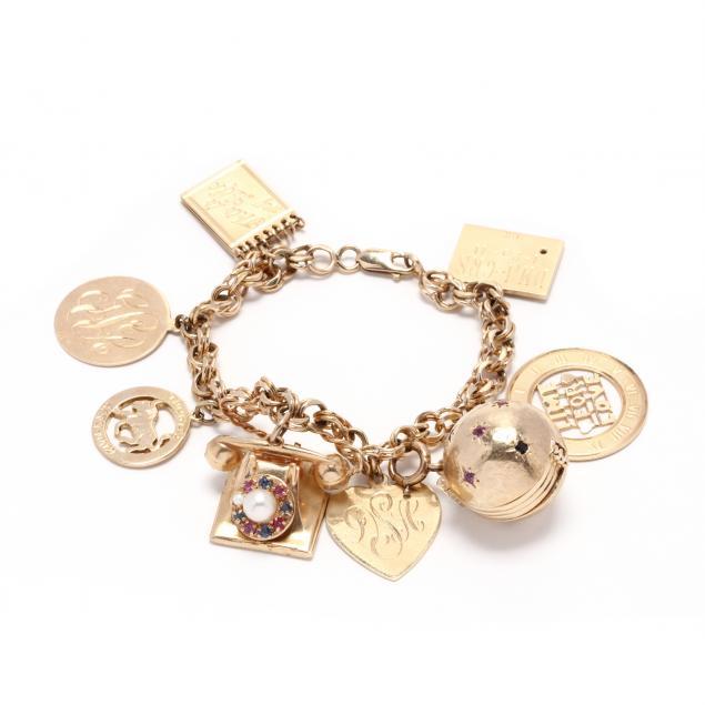 vintage-gold-charm-bracelet