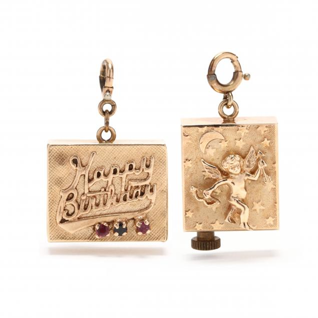 two-vintage-14kt-gold-musical-charms