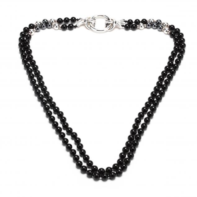 sterling-silver-and-onyx-bead-necklace-charles-krypell
