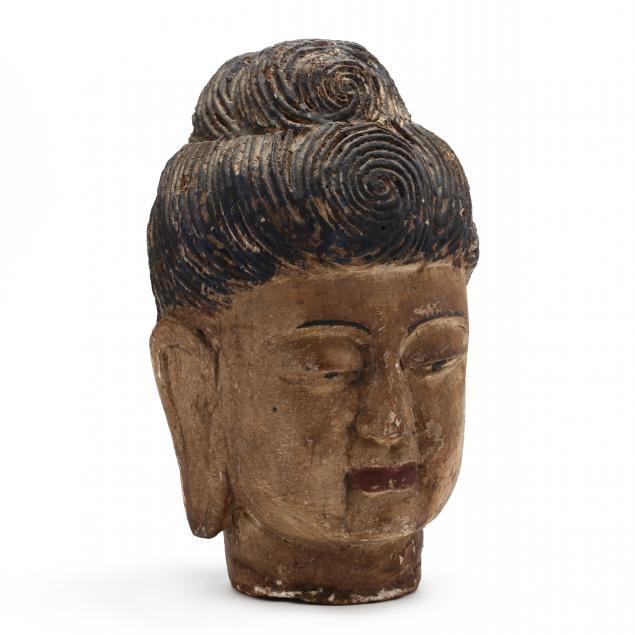 a-large-chinese-carved-wooden-painted-head