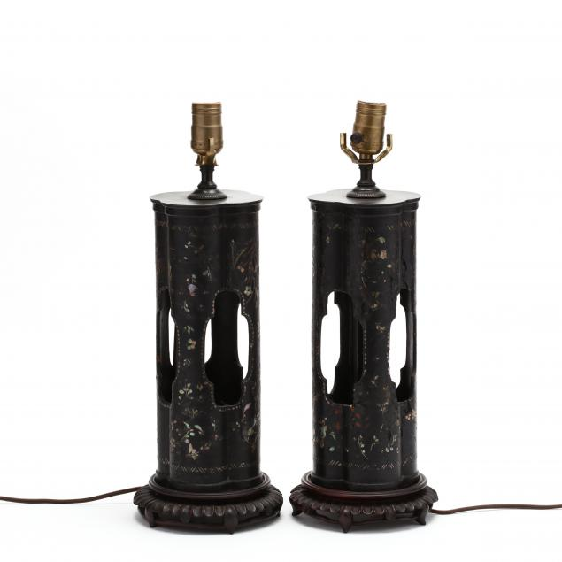 a-pair-of-chinese-mother-of-pearl-inlaid-lacquered-hat-stand-lamps