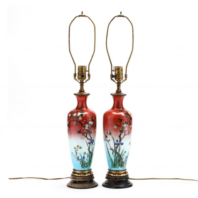 a-pair-of-japanese-cloisonne-vase-lamps