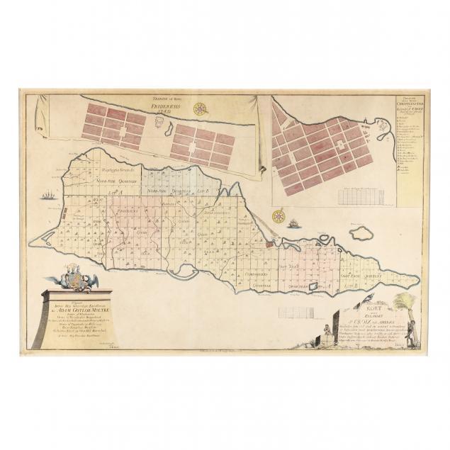 large-1754-map-of-st-croix-dutch-west-indies-by-jens-michelsen-beck