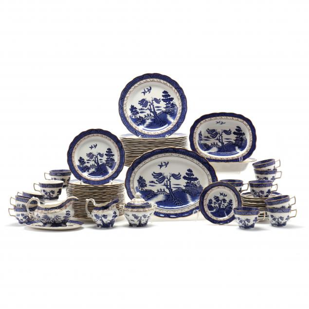 75-piece-set-of-royal-doulton-tableware-booth-s-real-blue-willow