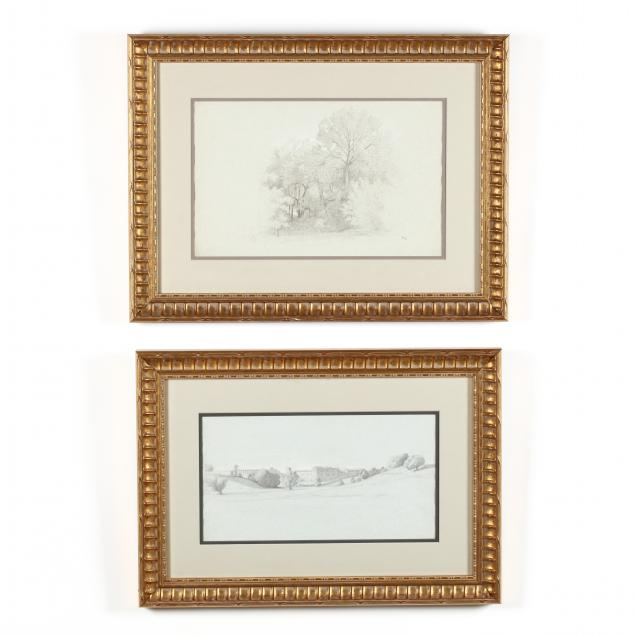 jean-achille-benouville-french-1815-1891-two-landscape-drawings