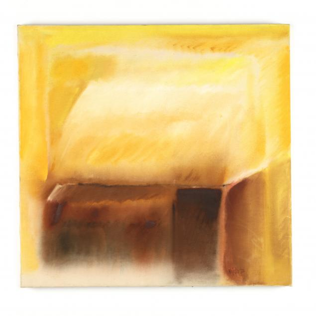 krista-collins-ca-abstract-painting-in-yellow-and-earth-tones