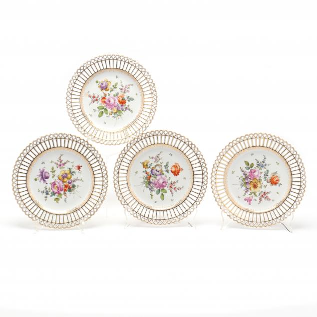 set-of-four-nymphenburg-porcelain-reticulated-cabinet-plates