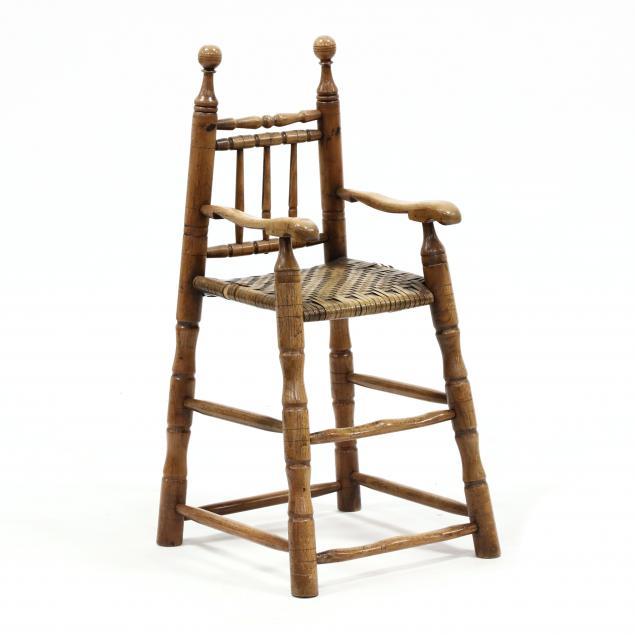 abe-cassidy-jr-nc-b-1942-primitive-style-child-s-highchair