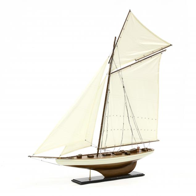large-contemporary-model-of-a-schooner