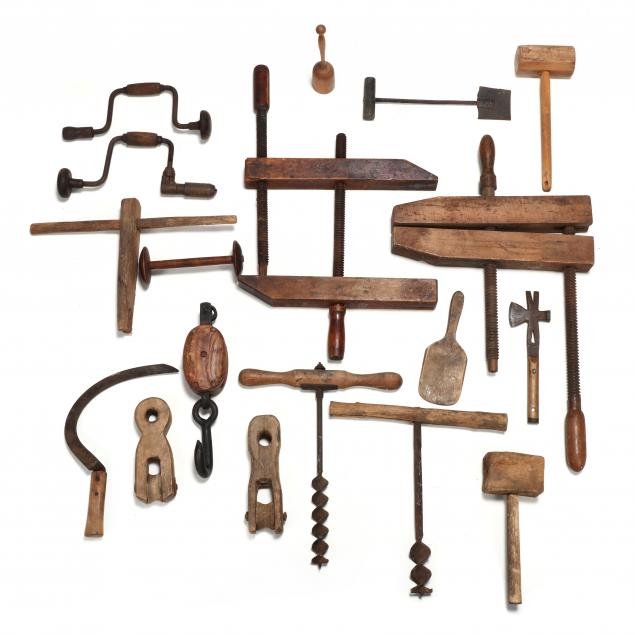 lot-of-18-antique-and-vintage-wooden-tools