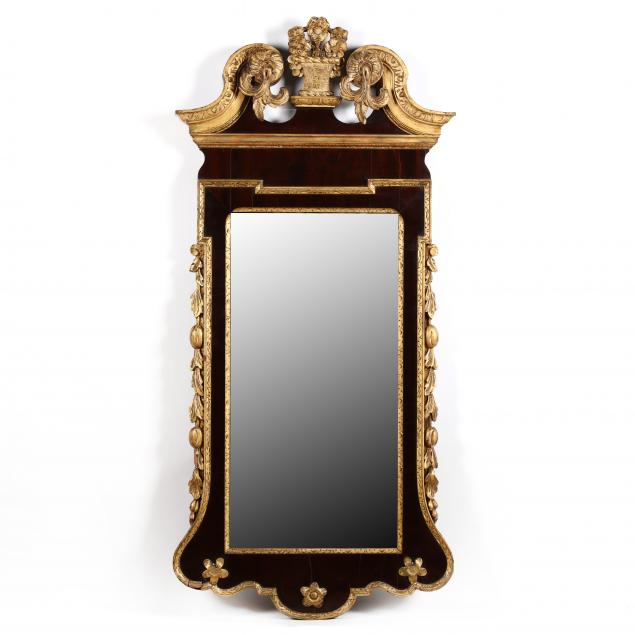 antique-george-ii-style-gilt-mahogany-looking-glass