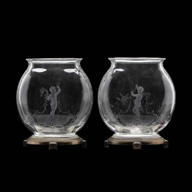 baccarat-pair-of-rock-crystal-engraved-mantel-vases