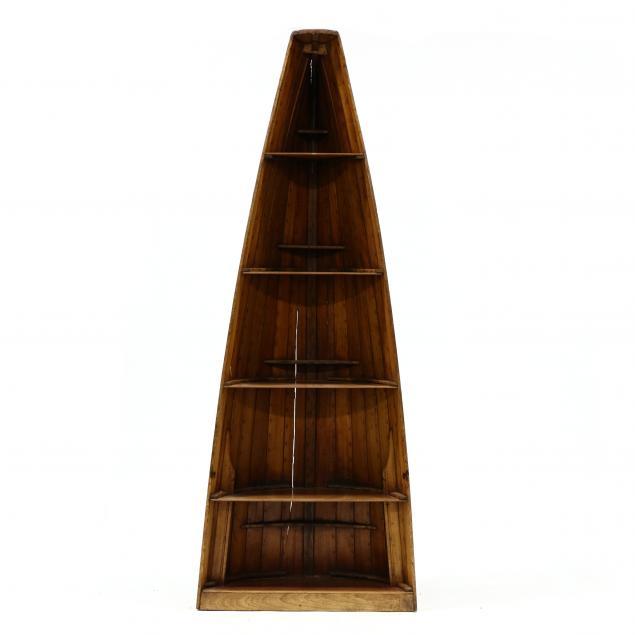 antique-half-canoe-bookshelf