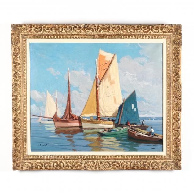 paul-eschbach-france-1881-1961-sailing-rigs-at-port