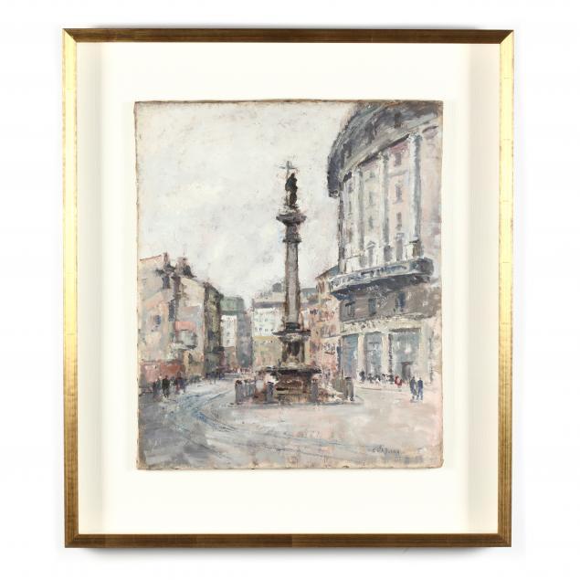 giovanni-colombo-da-busnago-italian-1908-1972-view-of-an-italian-piazza
