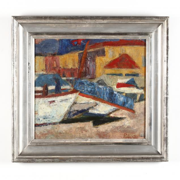 midcentury-abstract-painting-of-a-shipyard