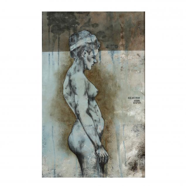 rene-rabadan-nishimura-mexican-20th-21st-century-profile-of-a-nude-female