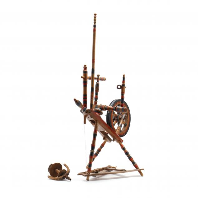 antique-swedish-child-size-spinning-wheel
