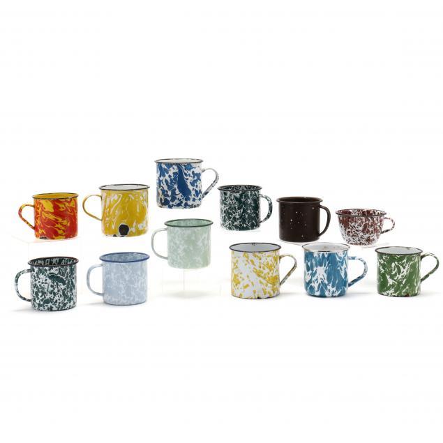 twelve-colorful-graniteware-mugs