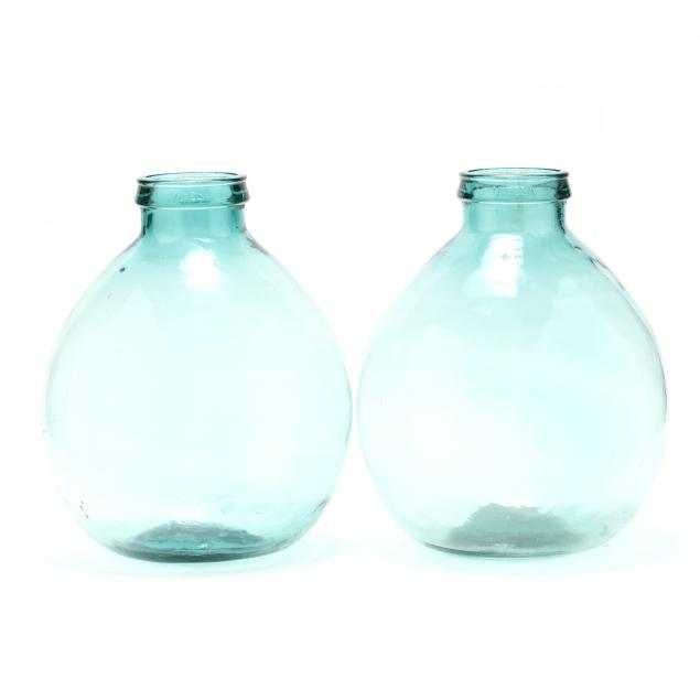 two-large-spanish-demijohn-storage-bottles
