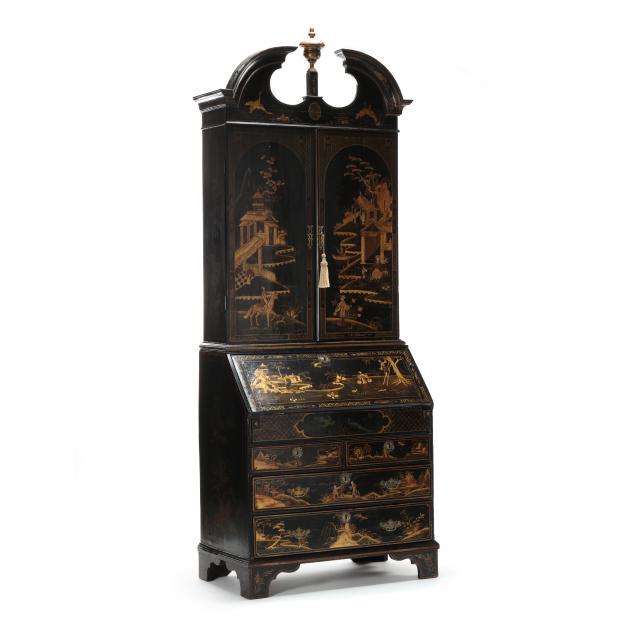 george-iii-japanned-and-gilt-secretary-bookcase