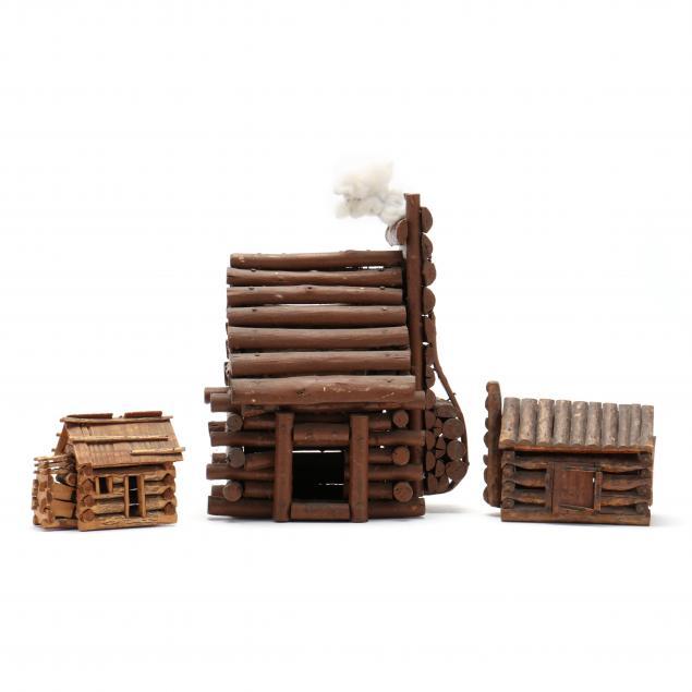 three-log-cabin-miniatures