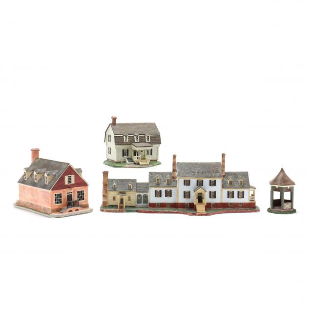 lang-wise-historic-home-collection-four-ceramic-miniatures