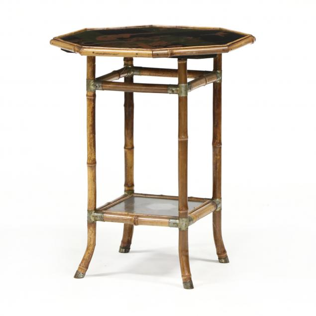 antique-bamboo-and-lacquered-side-table